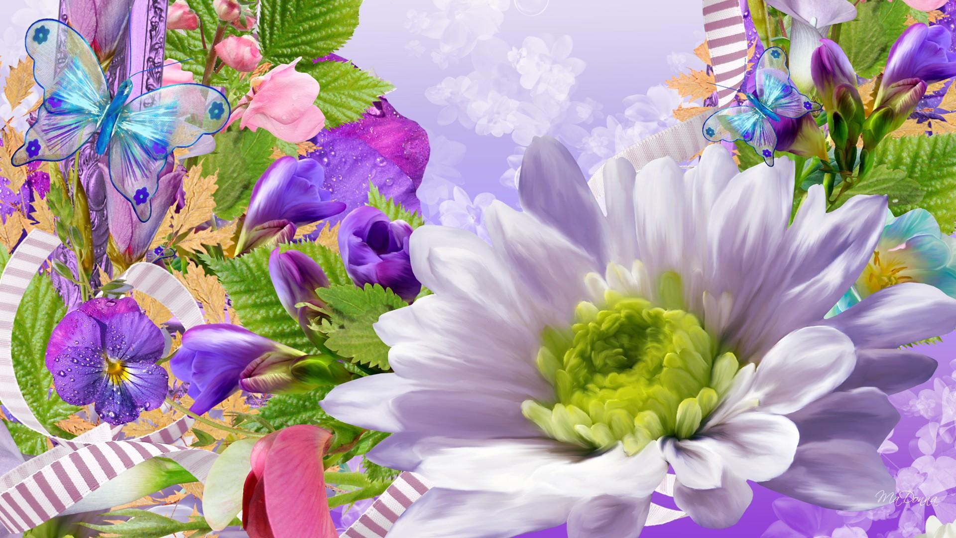 Desktop Flowers Wallpaper Backgrounds Sf Wallpaper
