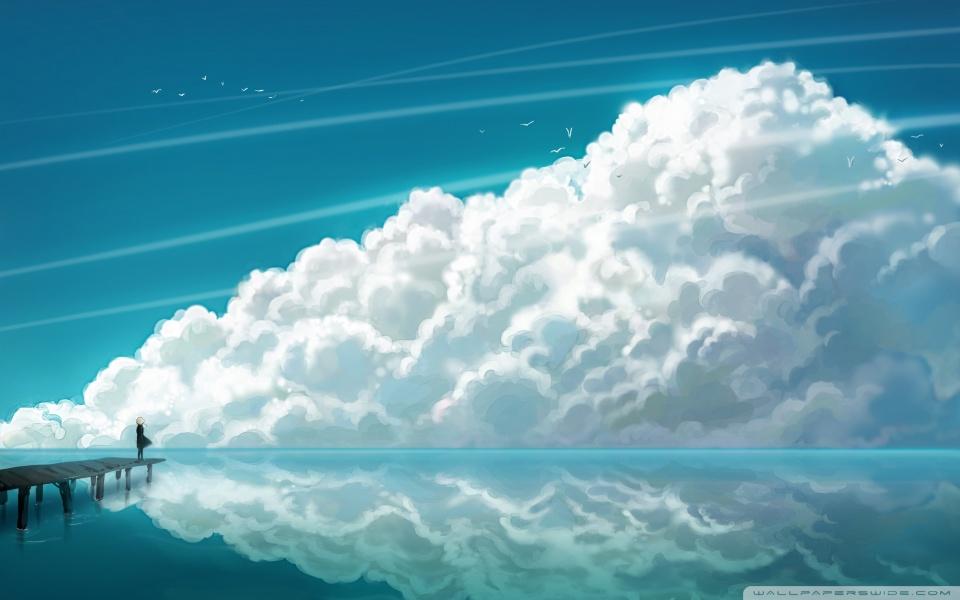 Sky Clouds HD desktop wallpaper : High Definition : Fullscreen ... src