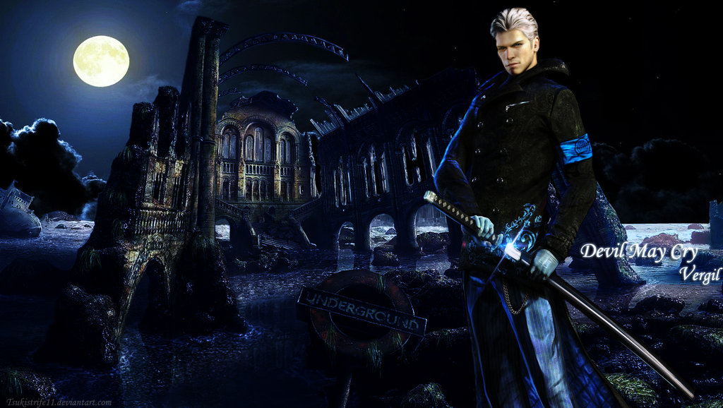 DeviantArt: More Like Vergil DMC wallpaper by VickyxRedfield
