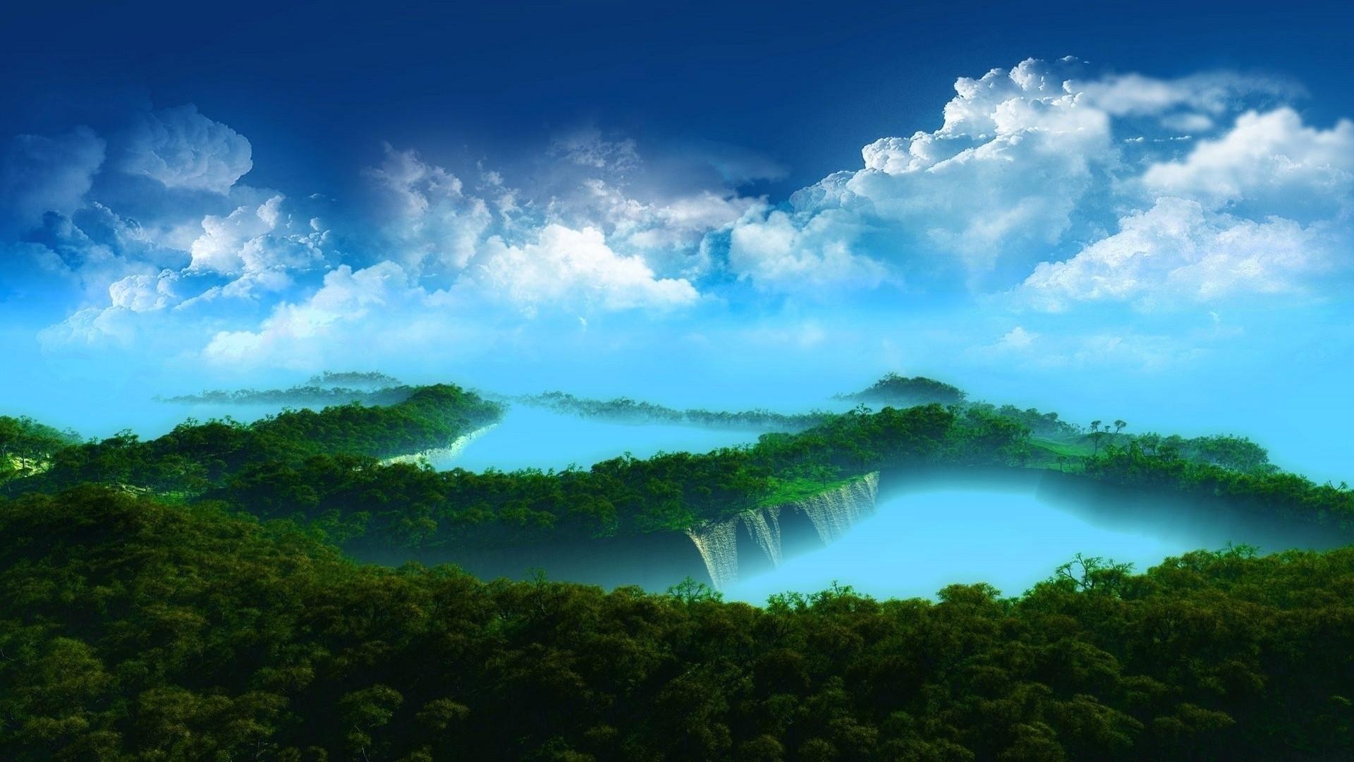 Digital Landscape Wallpaper Sf Wallpaper