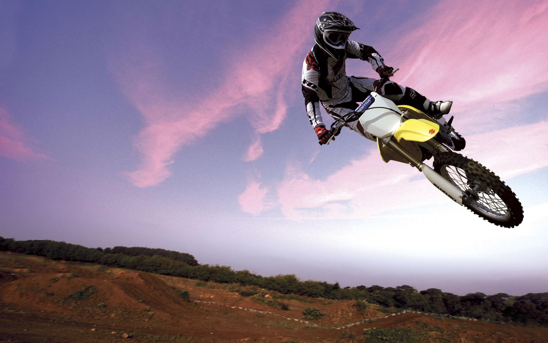 Motocross Bike in Sky Wallpaper | Bikes | Pinterest | Bikes, Sky