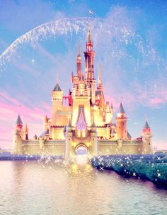 Tap image for more iPhone Disney wallpaper! Disney castle artwork