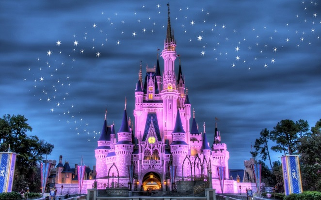 Childrens Wallpaper | Disney Wallpaper | Castle Wall Mural