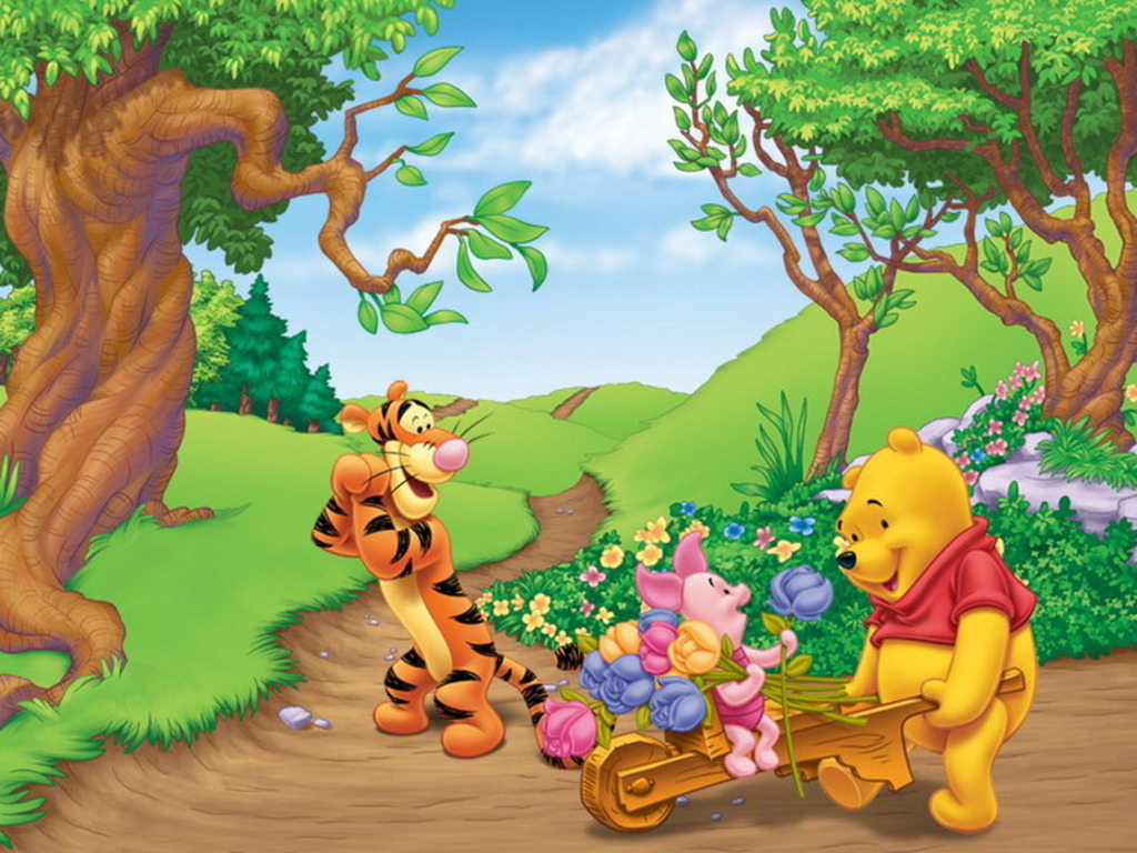 Winnie The Pooh Cartoons Disney Wallpaper Android Opera