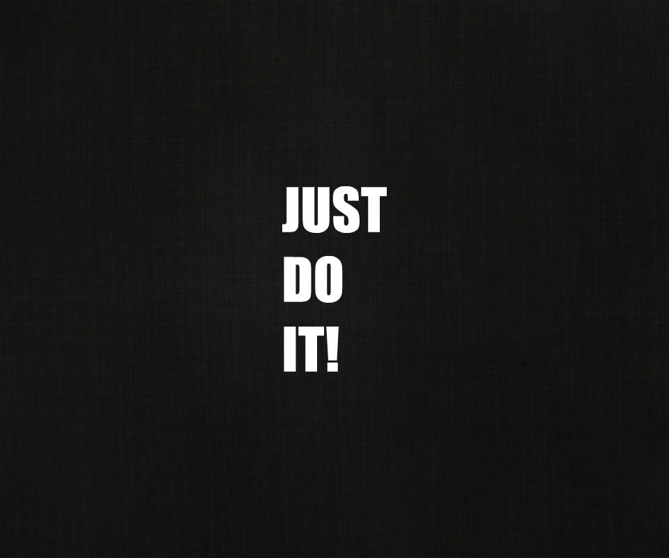 Just Do It Wallpaper HD - WallpaperSafari