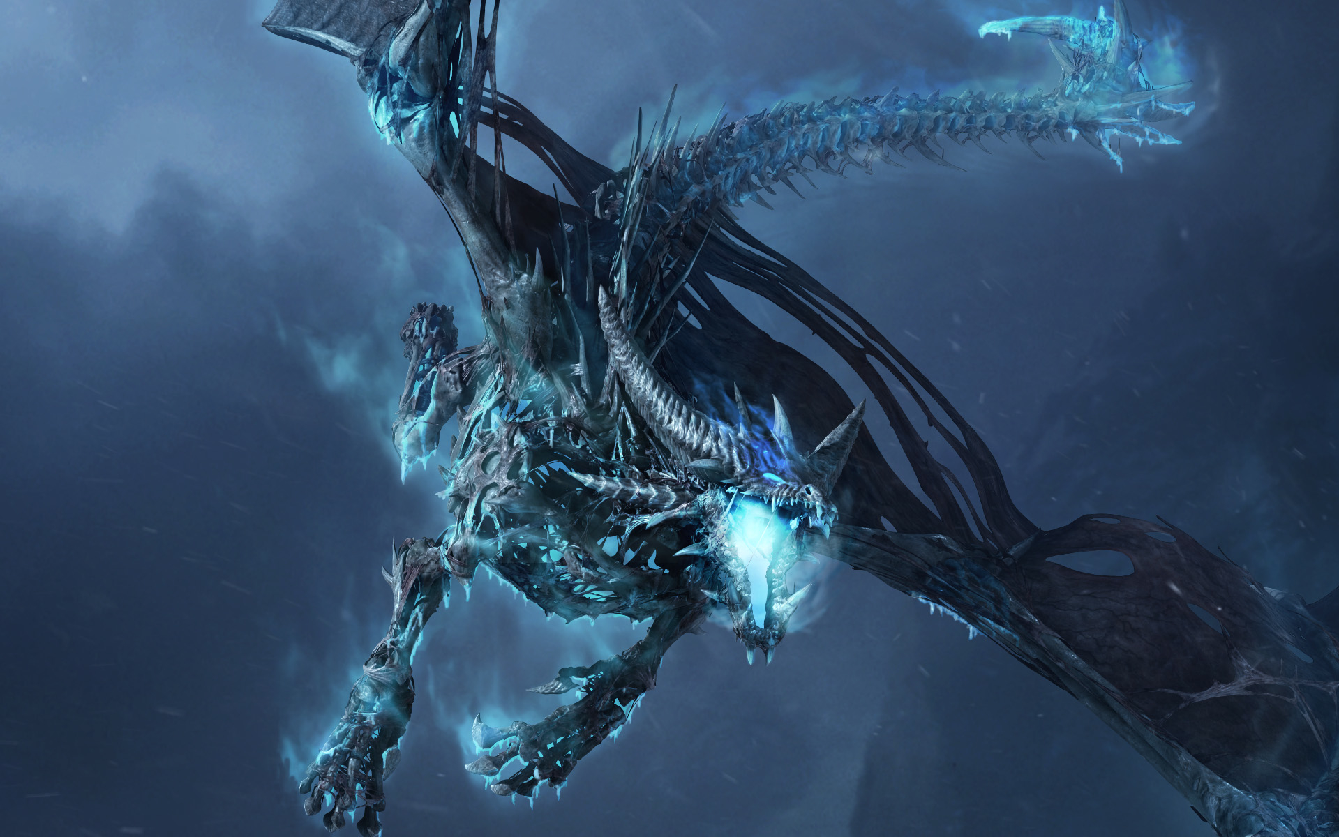 Ice Dragon Background Wallpapers 10174 - Amazing Wallpaperz