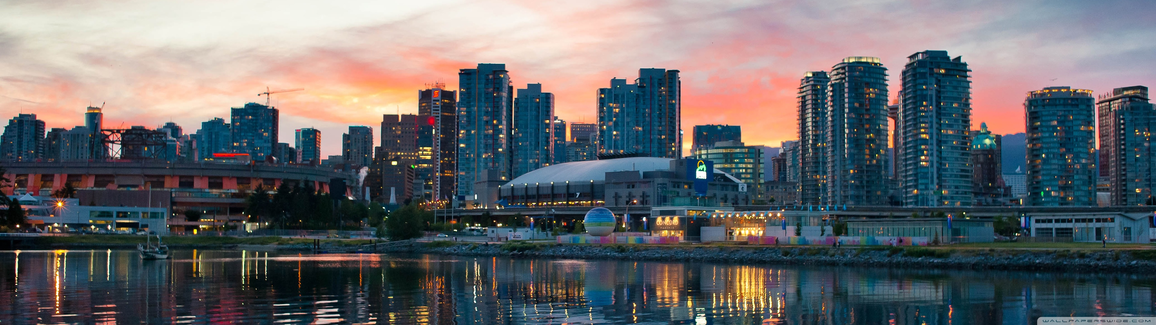 Vancouver Sunset HD desktop wallpaper : High Definition
