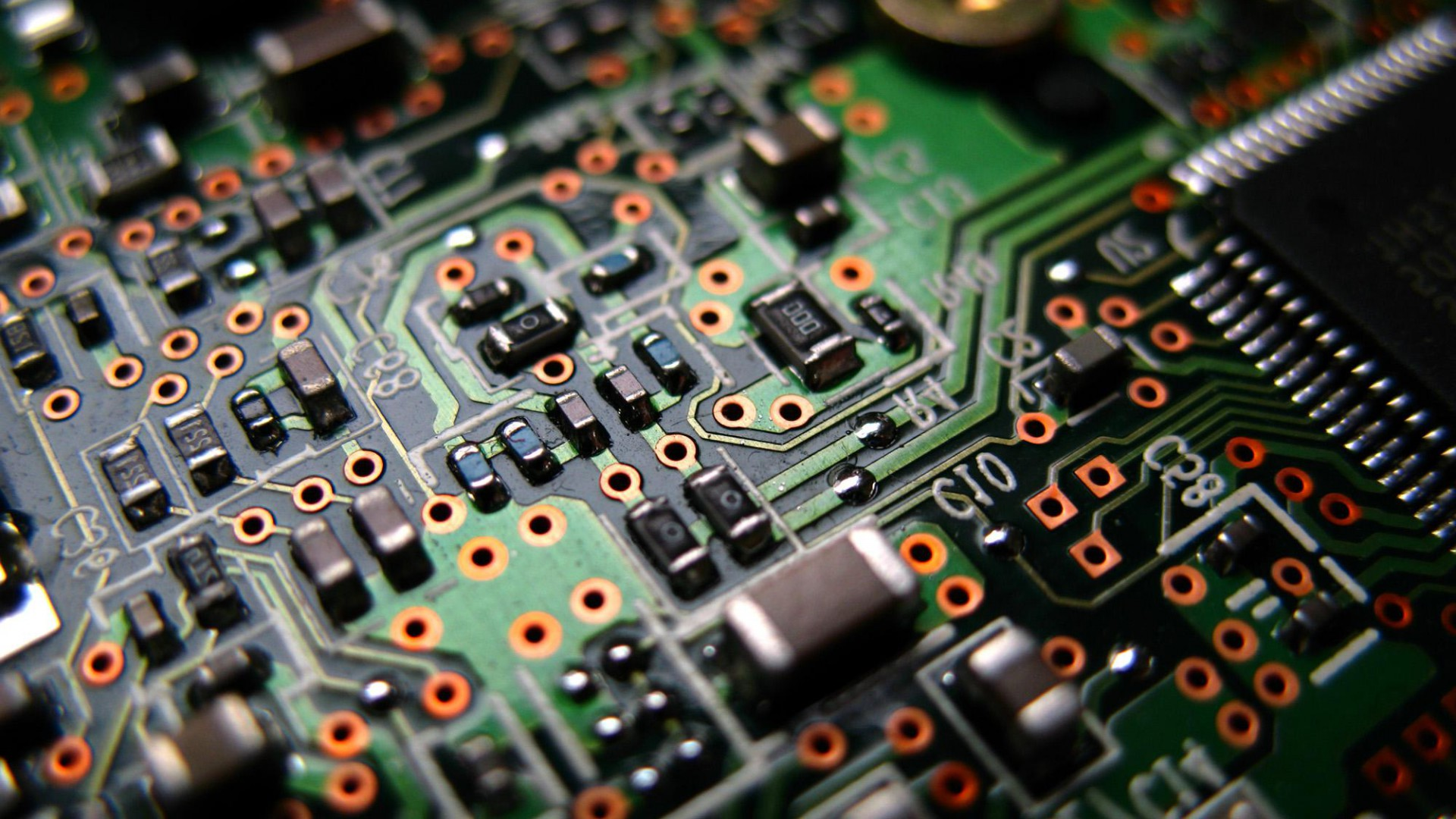Electronic circuit wallpaper - SF Wallpaper