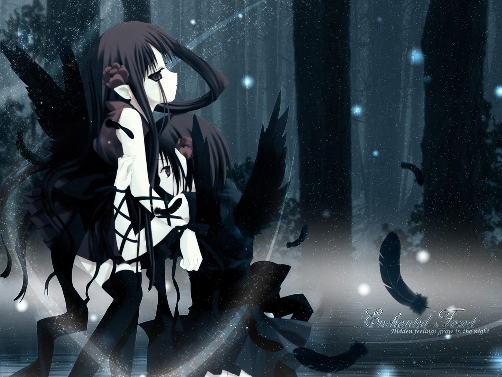 Angels women wood forests demons yuri devil anime manga anime