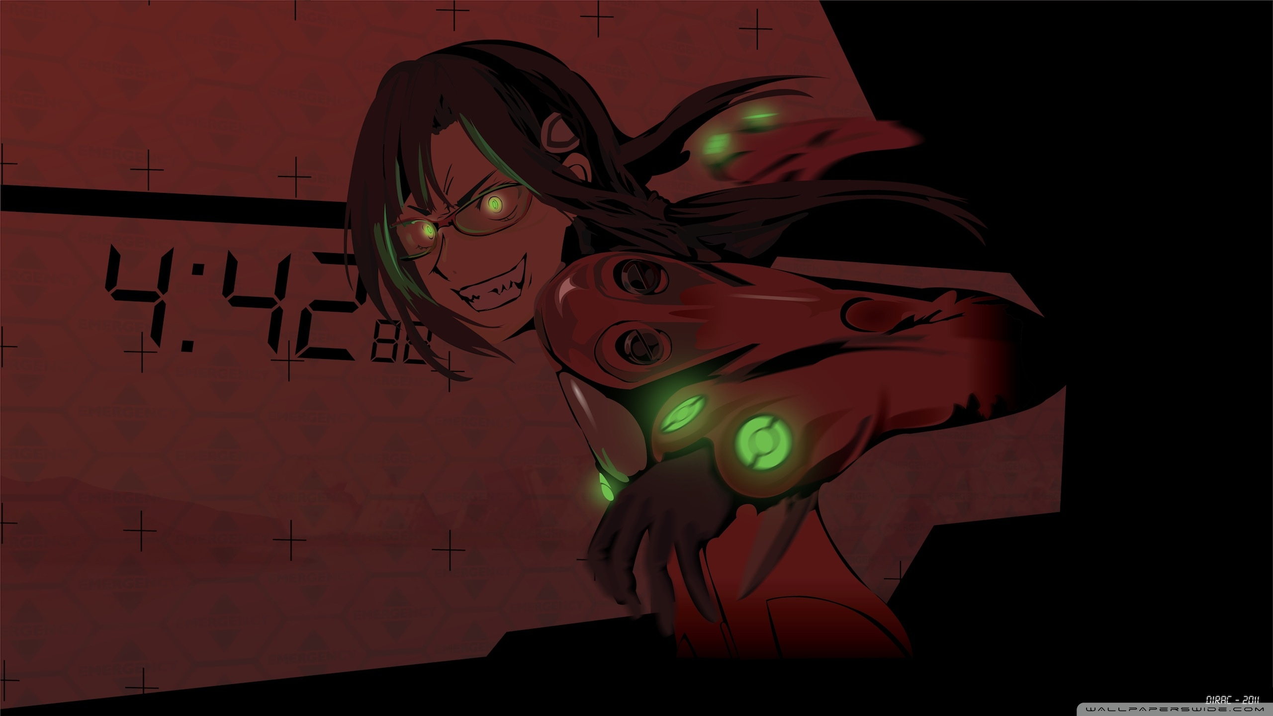 Evil Smile Anime HD desktop wallpaper : Widescreen : High