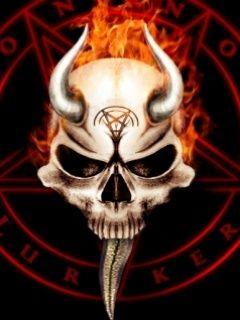 Evil Skull Wallpaper #703146 - Resolution 240x320 px   wallpapers