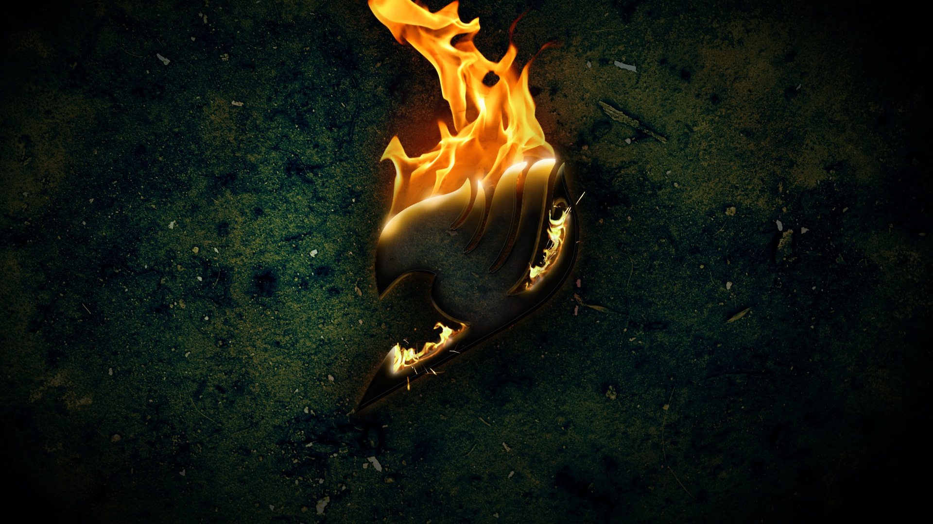 Fairy Tail Logo on Fire Wallpaper | Fairy Tail | Pinterest | Logos