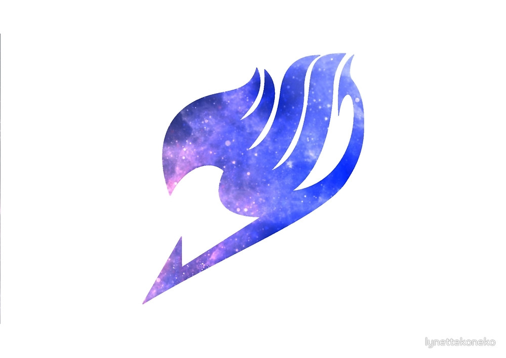 "Galaxy Fairy Tail Logo Design"" by lynettekoneko | Redbubble"