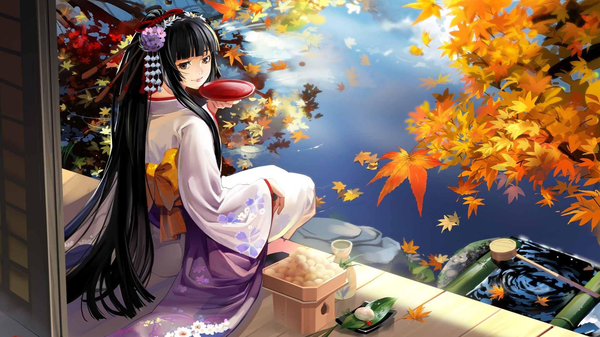 Autumn Anime Scenery Wallpaper HD Picture #67420 1920x1080 px