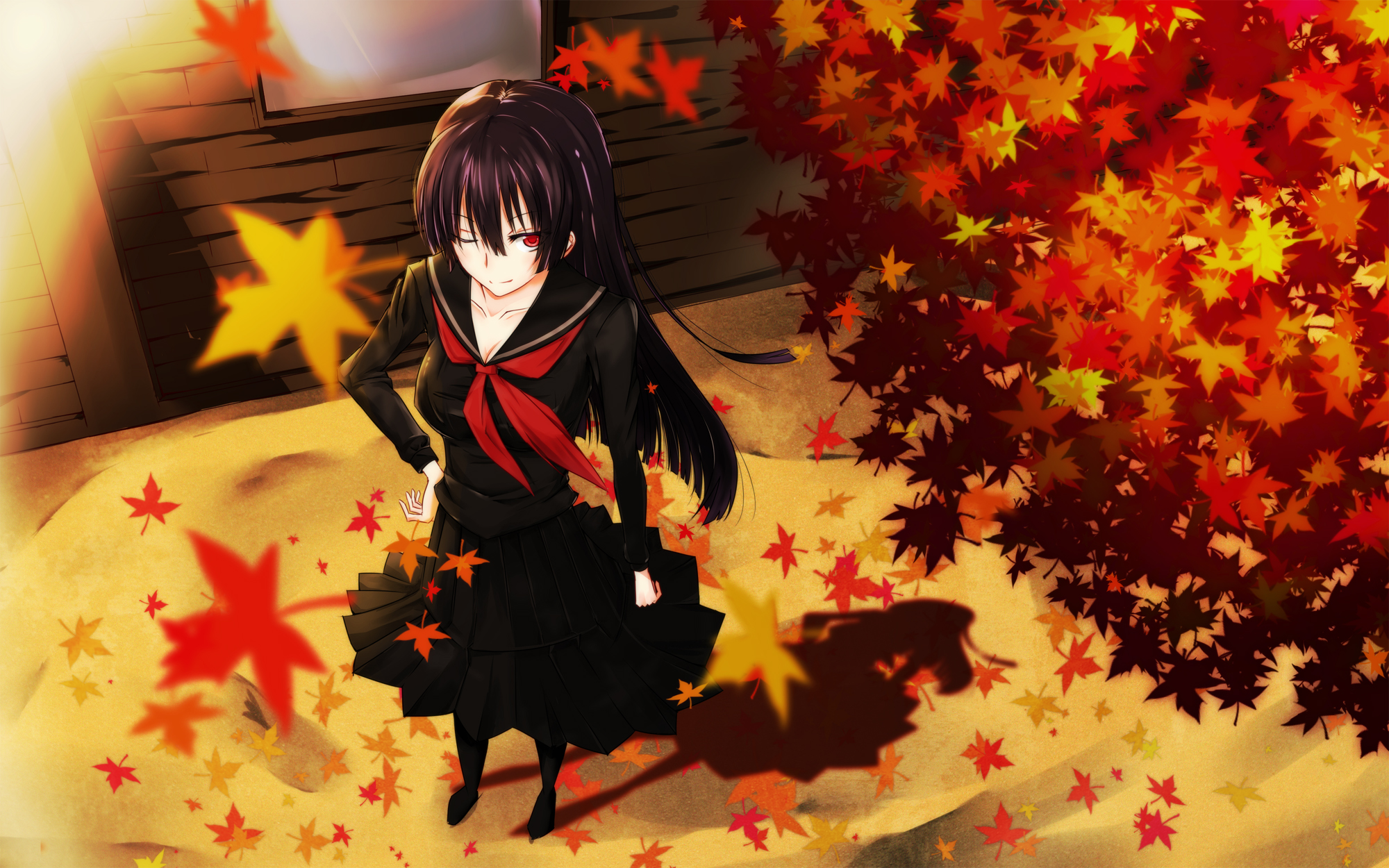 Autumn Anime Girl Wallpaper   2000x1250   ID:55837