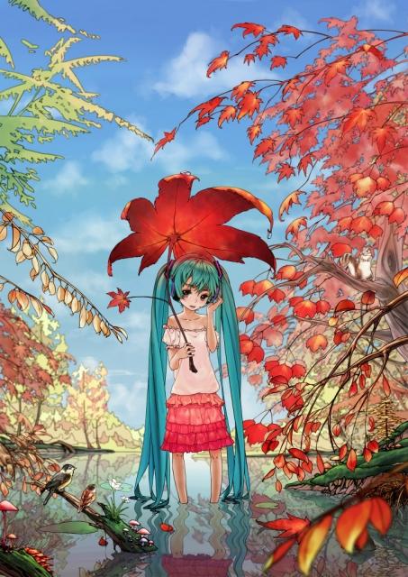Adorable Fall Vocaloid Hatsune Miku Autumn Cutie Anime Wallpapers