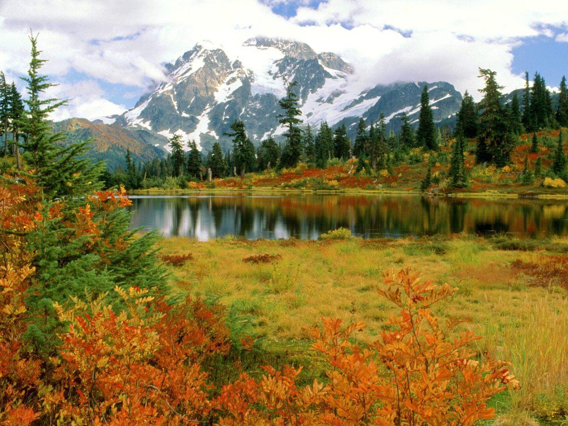 Fall Mountain Lake View widescreen wallpaper | Wide-Wallpapers NET