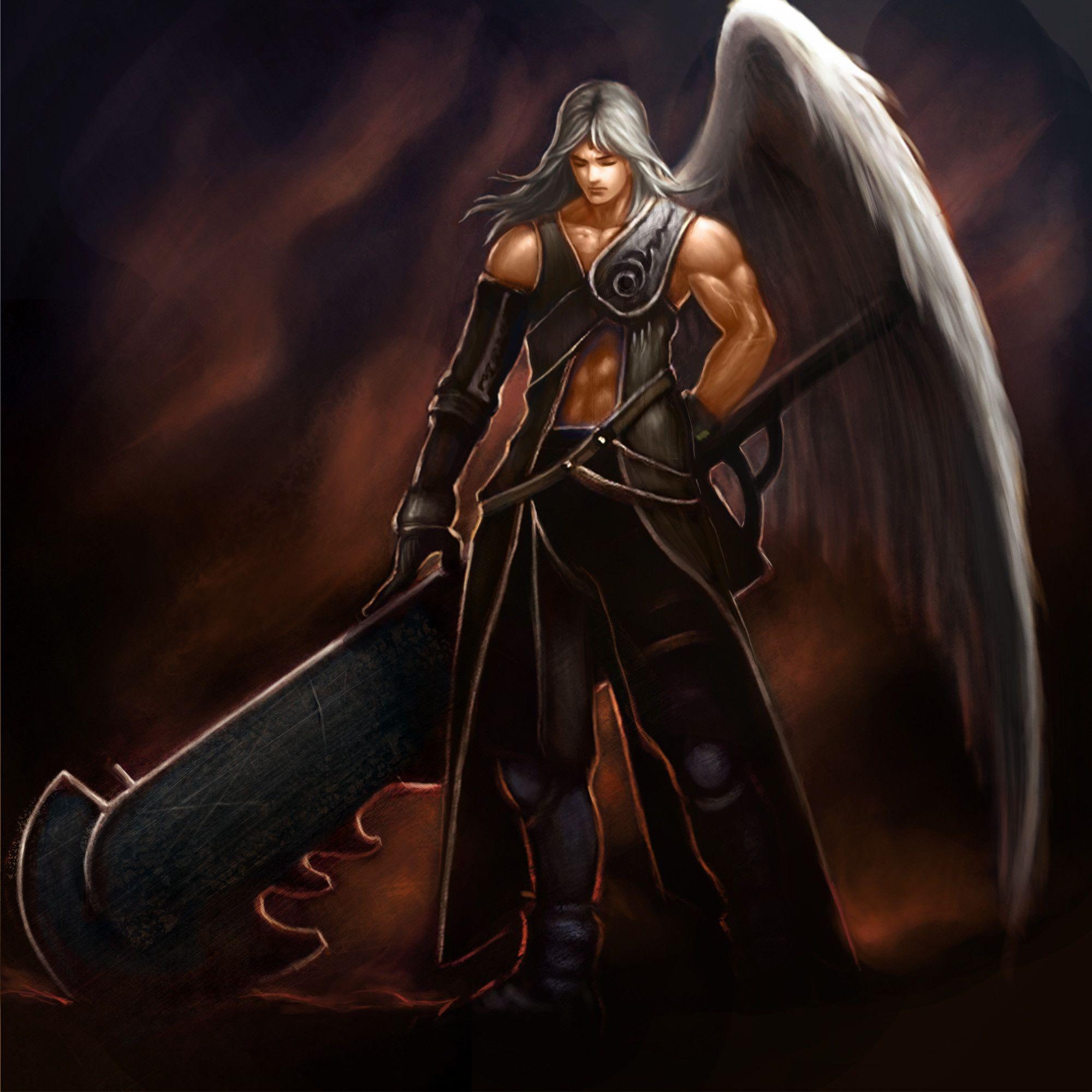 Fantasy Art Fallen Angel Warrior