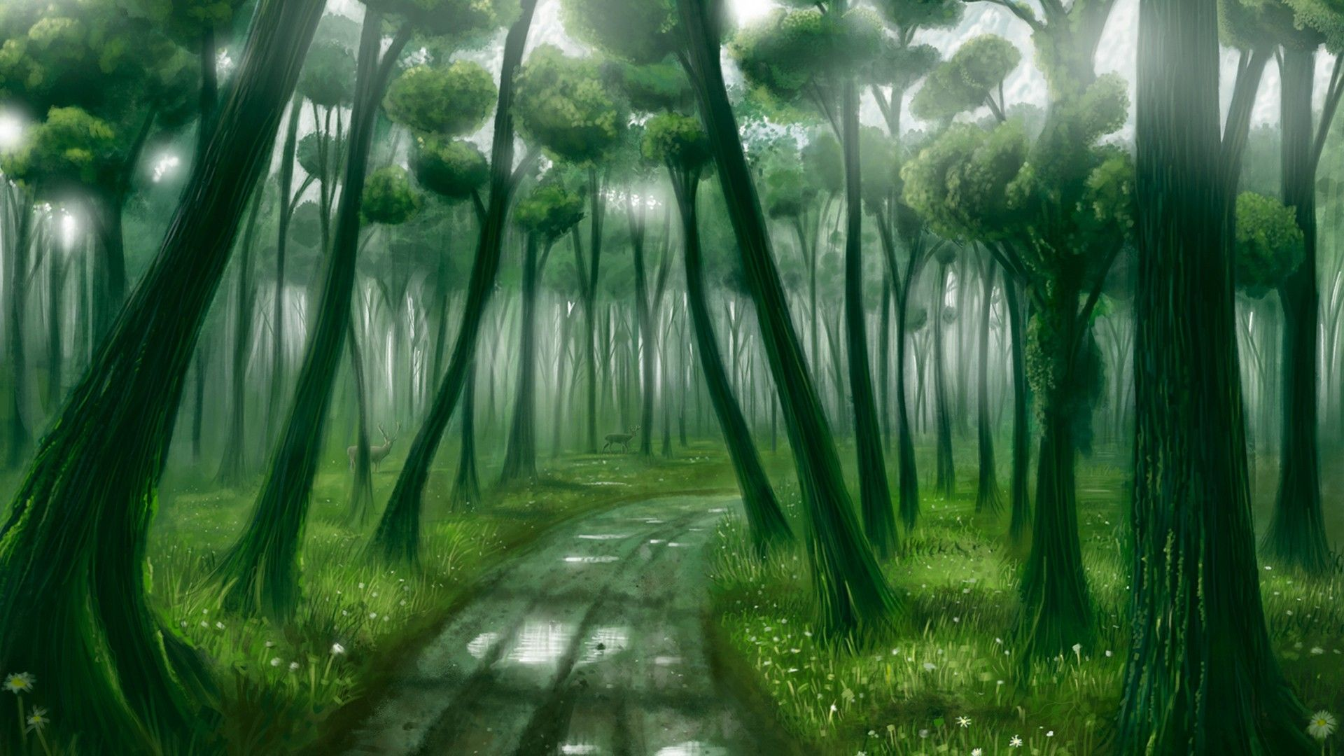 Fantasy Forest Background Page 1