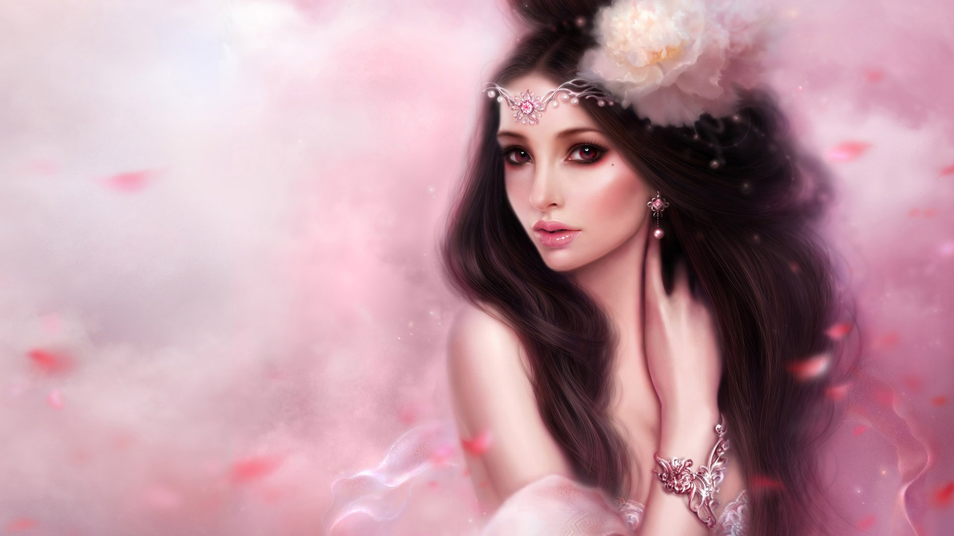 Download Fantasy Girl Pink Wallpaper | Full HD Wallpapers