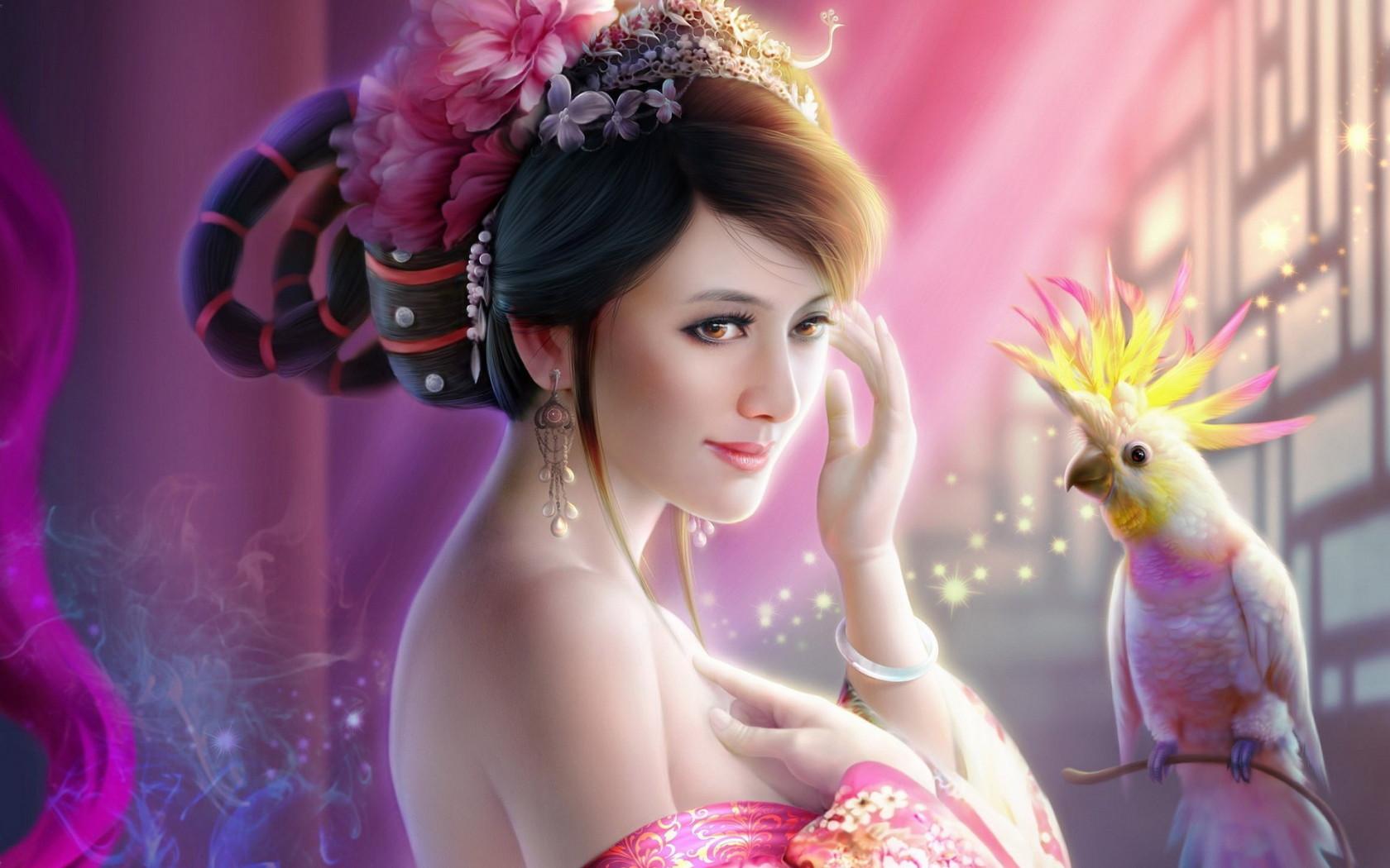 3D-fantasy-girl-wallpaper   3d arts   Pinterest   Beautiful