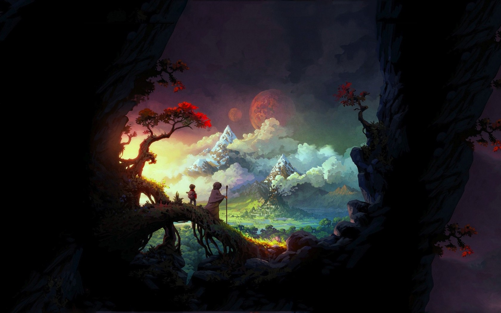 Children in a Fantasy World widescreen wallpaper | Wide-Wallpapers NET
