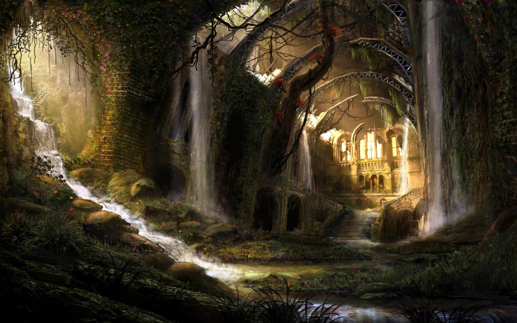 Fantasy World Underground widescreen wallpaper | Wide-Wallpapers NET
