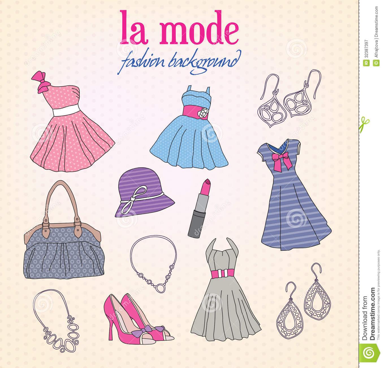 Fashion Background Royalty Free Stock Photography - Image: 32387397