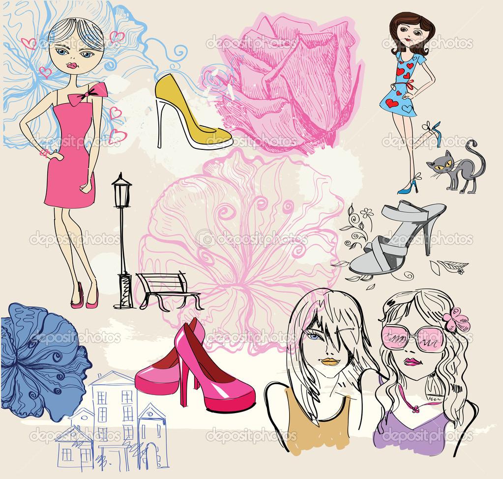 Fashion background — Stock Vector © bioraven #11861255