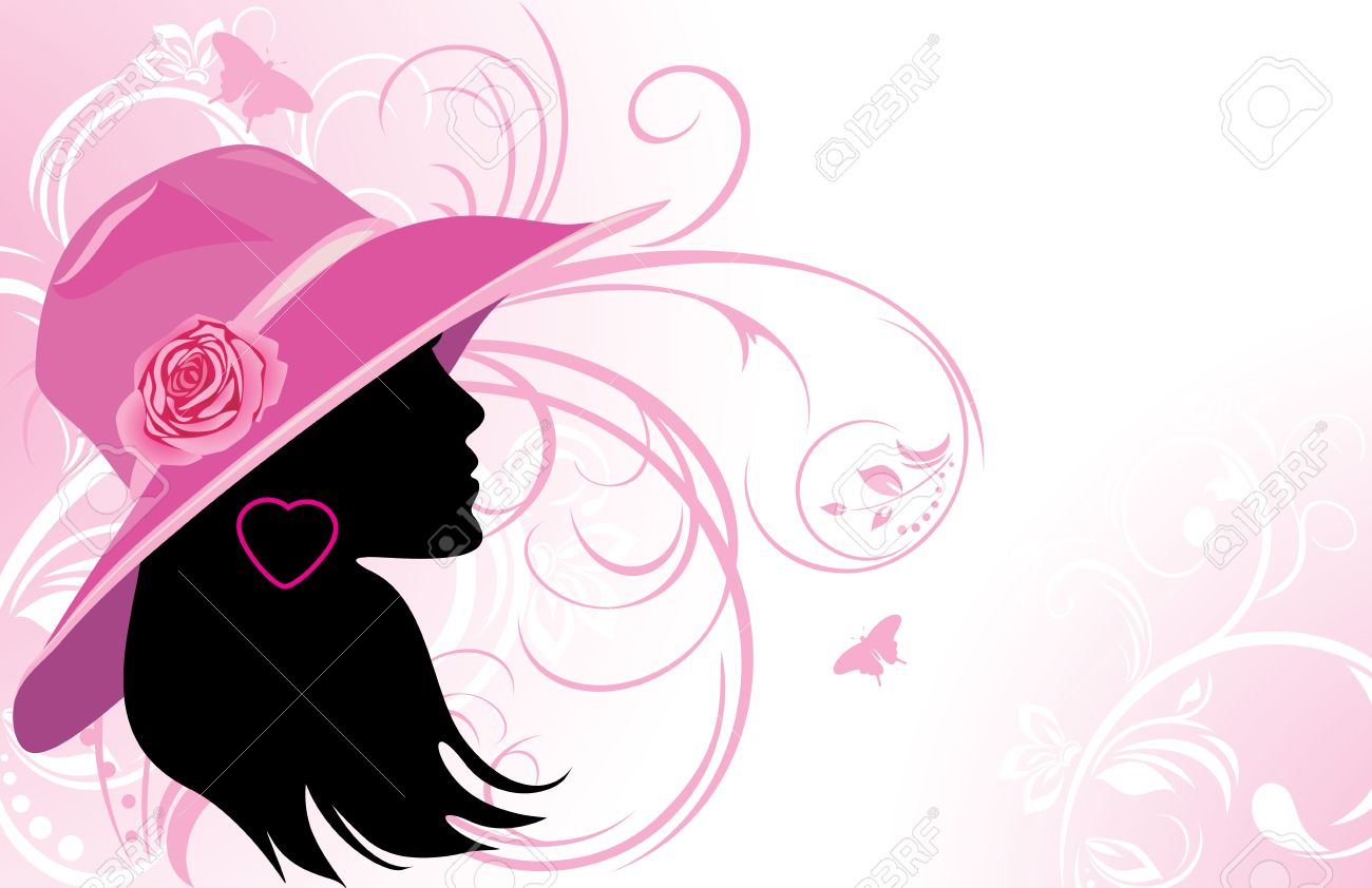 Portrait Of Elegant Woman In A Hat  Fashion Background Royalty