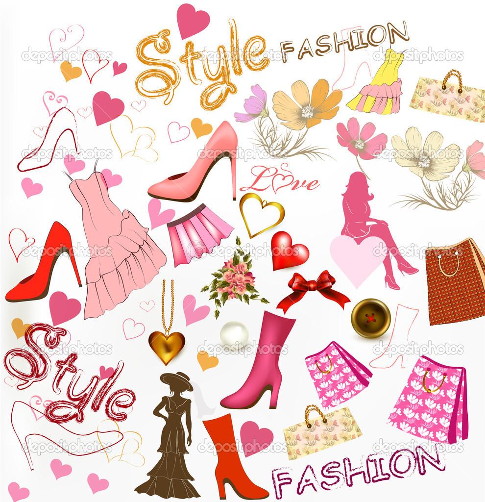 Fashion stylish background — Stock Vector © MashaKotscur #20192207