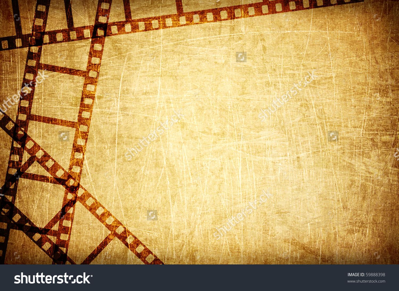 Vintage Scratch Background Film Frame Stock Photo 59888398
