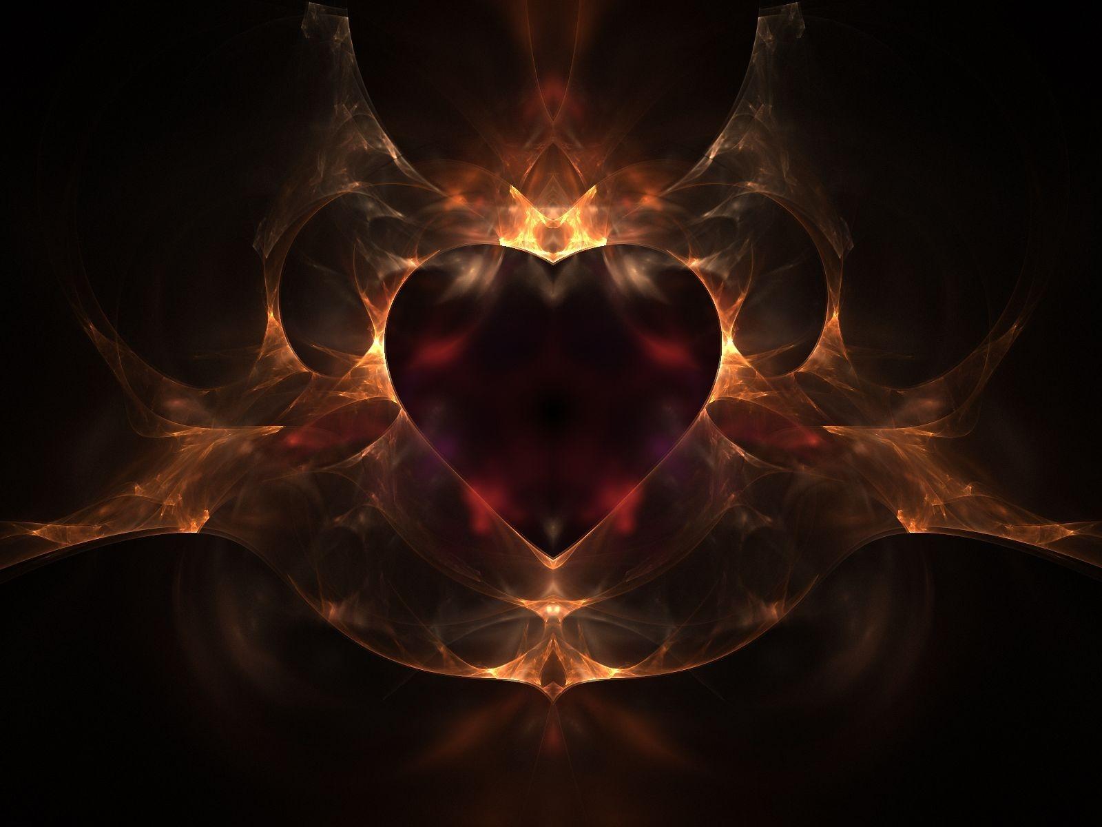 fire heart wallpaper - sf wallpaper