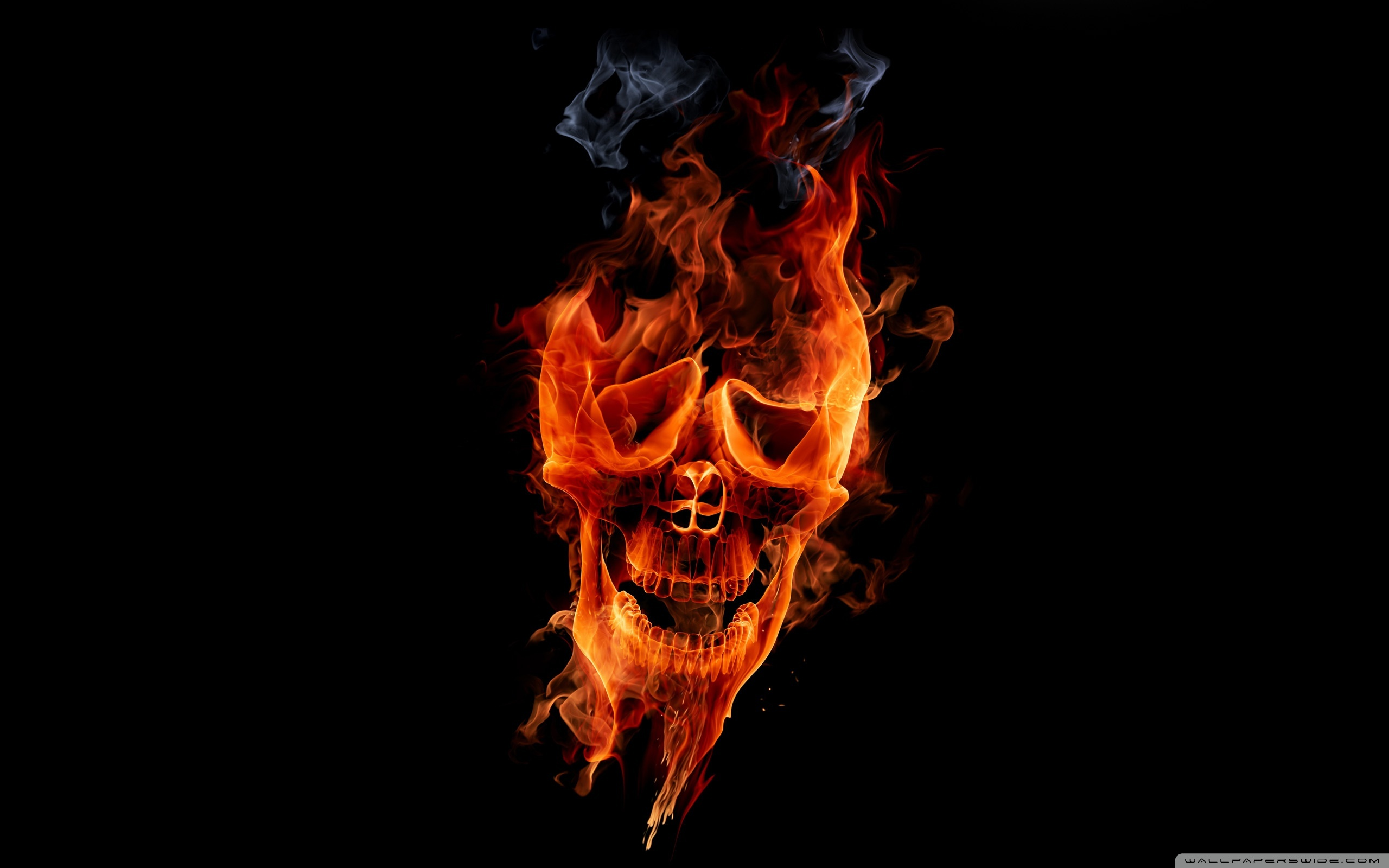fire skull wallpaper sf wallpaper