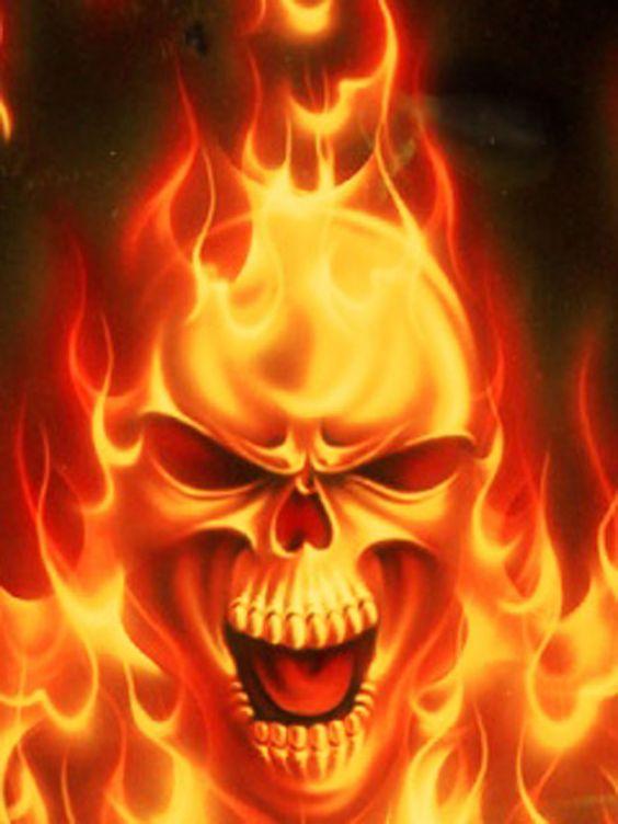 Fire skull wallpaper - SF Wallpaper