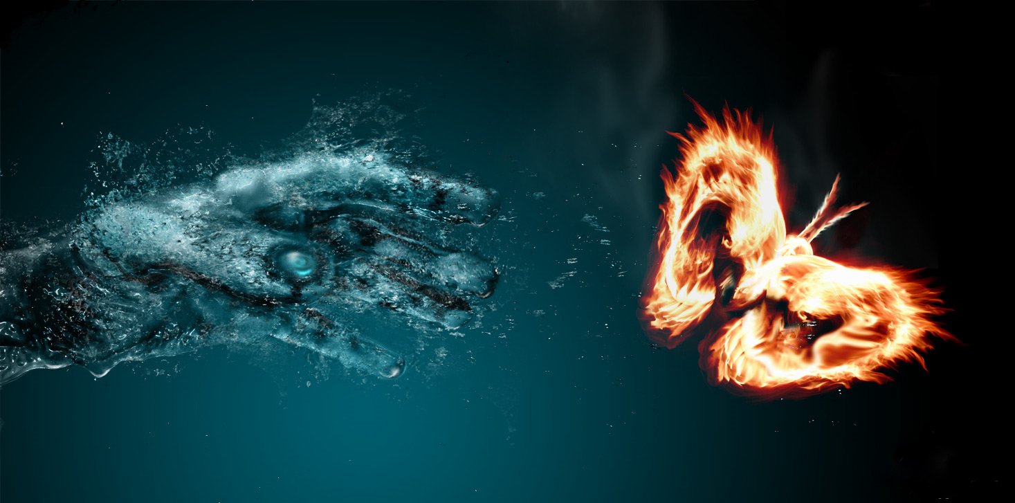 Fire And Water Wallpaper