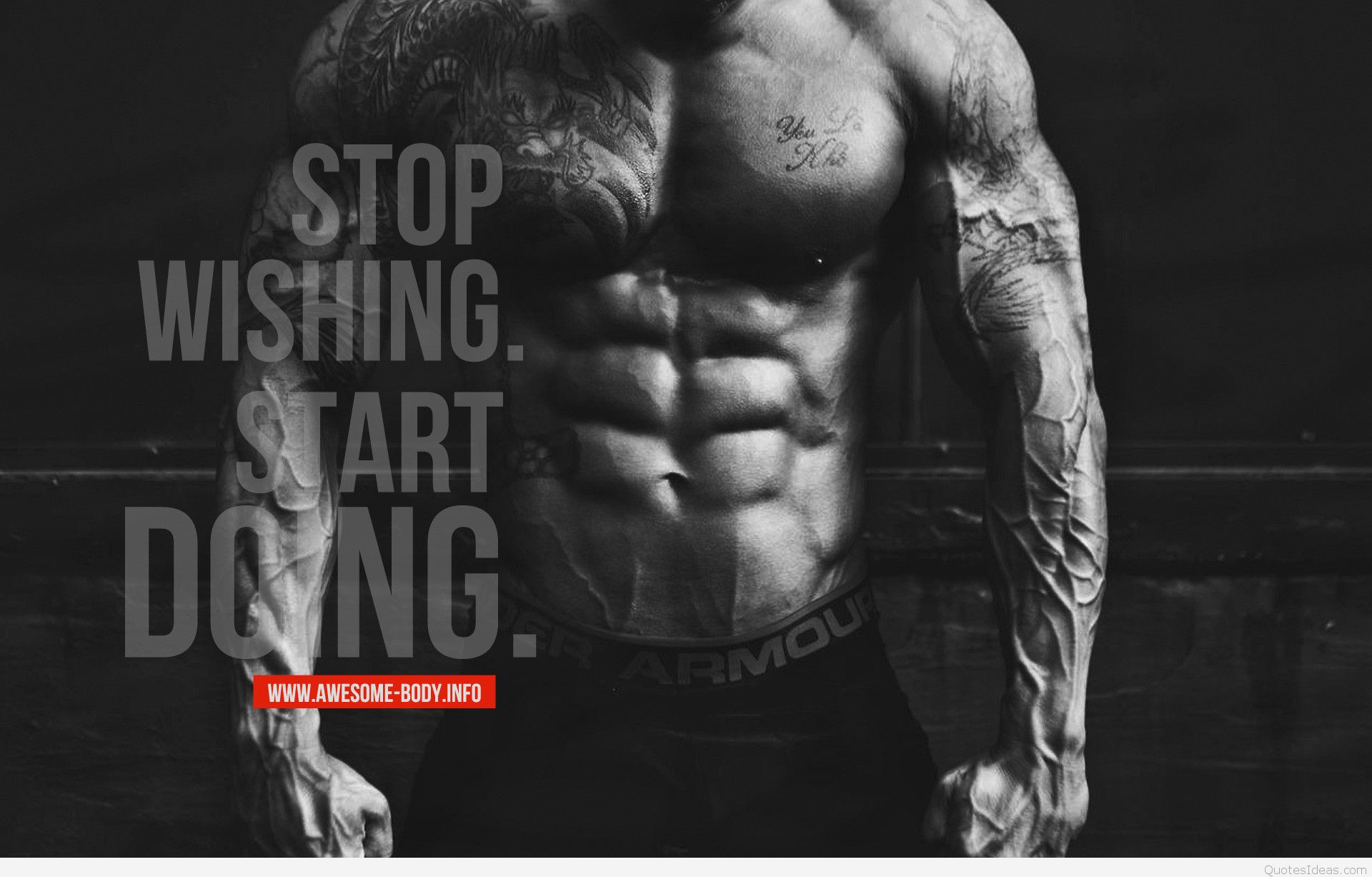Motivational Fitness Image wallpaper with quote for mobile