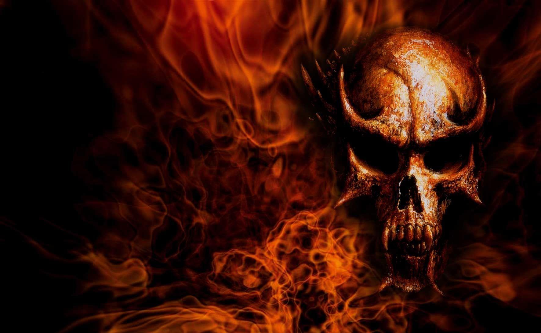 Flaming Skull Backgrounds