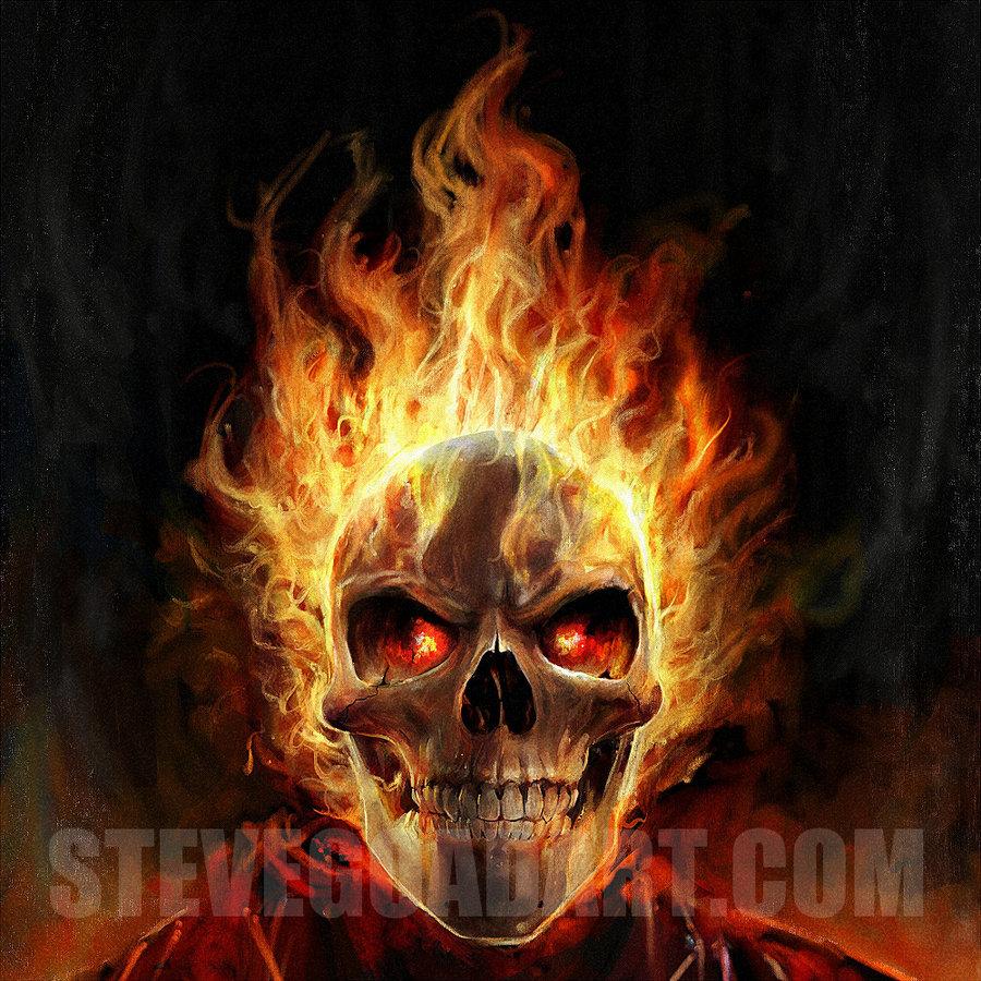 Red Flaming Skull Wallpaper - WallpaperSafari