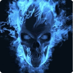 Blu Flame Skull Live Wallpaper - Android Apps on Google Play