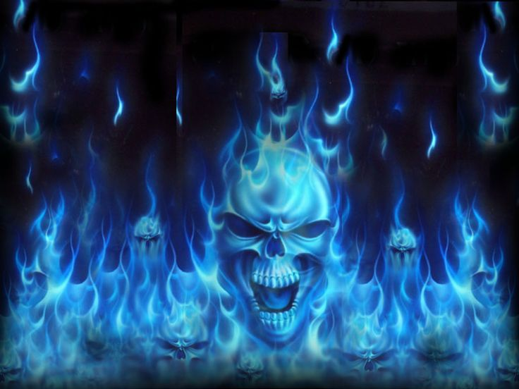 Collection of Flaming Skull Backgrounds on HDWallpapers
