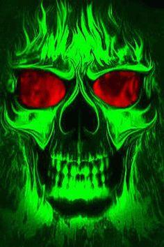Flaming Skull wallpaper free | fun | Pinterest | Skull wallpaper