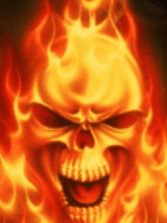 Collection of Flaming Skulls Wallpaper on HDWallpapers