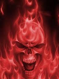 Image result for green flaming skull wallpaper | Skulls** Color