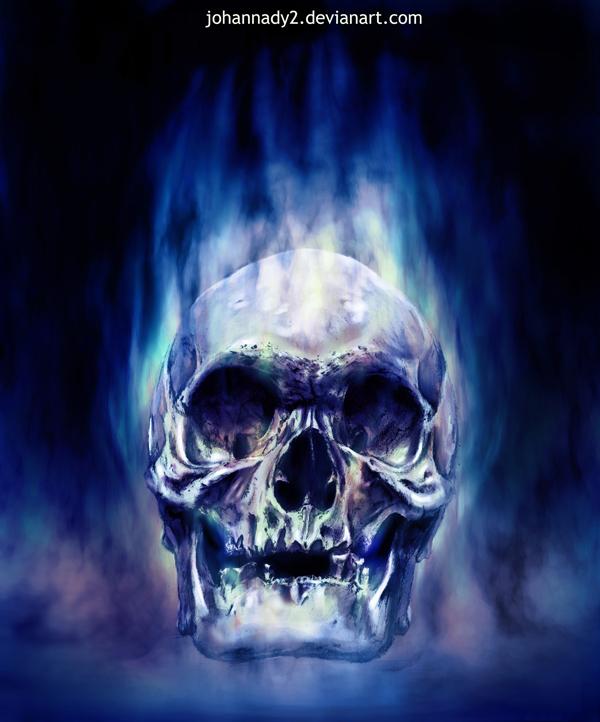 Flaming Skulls Wallpaper - WallpaperSafari