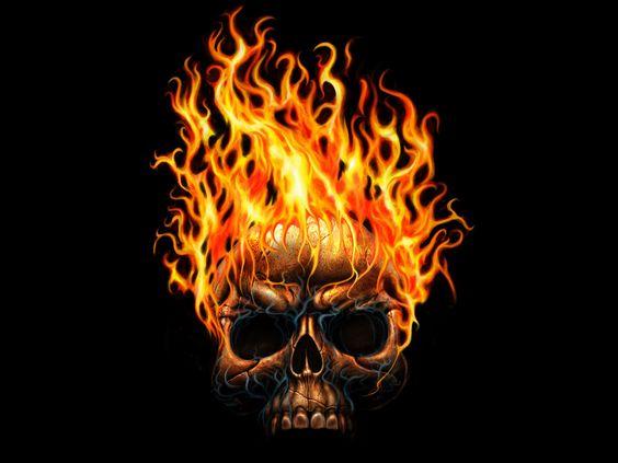 Cool Skull | Flaming skull wallpaper  | skulls | Pinterest | Skull