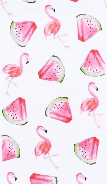 Flamingo watermelon wallpaper (from My Jewellery) | Wallpapers