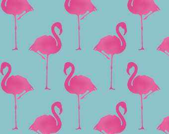 Flamingo wallpaper | Etsy