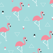 flamingo fabric, wallpaper & gift wrap - Spoonflower