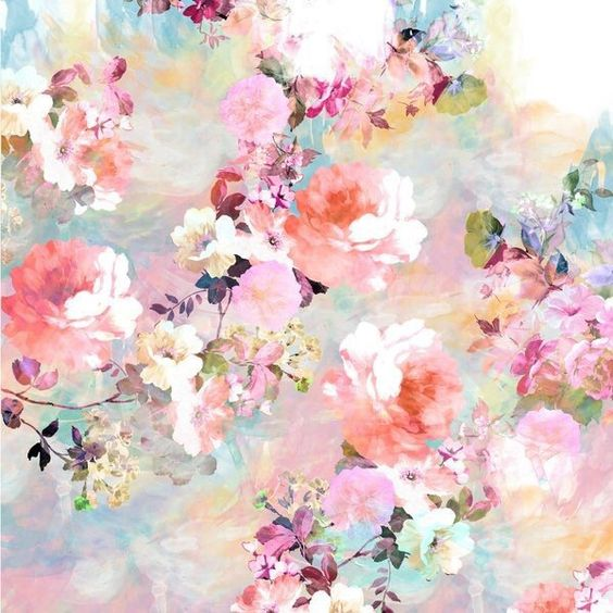 aesthetic, colorful, floral, floral print, flowers, pastel, print